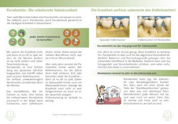 Parodontitis Broschüre Volkskrankheit