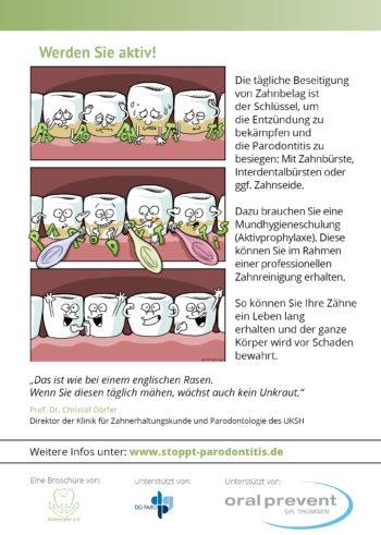 Stoppt Parodontitis Broschüre