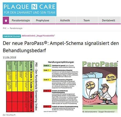 Aktion Stoppt Parodontitis, Der neue Paropass