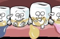 Comic-Zähne, Interdentalbürsten, Parodontitis vorbeugen