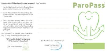 Ansicht des ParoPasses